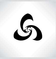 Abstract stylish swirl flower sign logo design vector