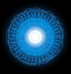abstract technology digital circle vector image