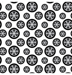 auto wheels vector image