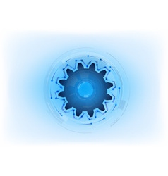 blue cogwheel on the light background vector image vector image