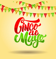 cinco de mayo lettering phrase on background with vector image