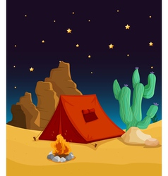 Desert Camping vector image vector image