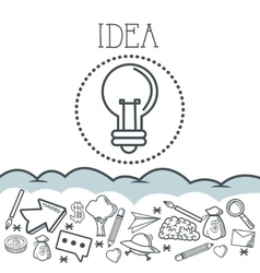 Doodle icon design idea icon draw concept vector image vector image