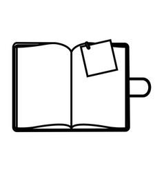 figure agenda with big paper note vector image