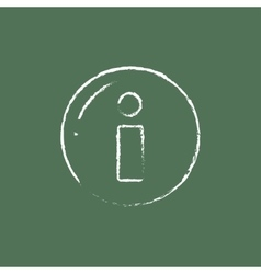 Information sign icon drawn in chalk vector