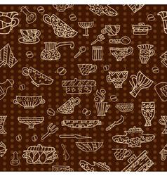 kitchen utensils background vector image