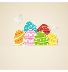 paper eggs vector image vector image