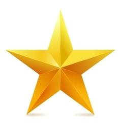 Single golden star shine on white background vector image vector image