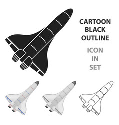 space shuttle icon in cartoon style isolated on vector image vector image