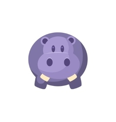 Toy blue hippo vector