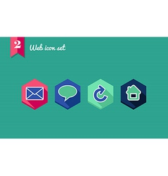 Web apps geometric flat icons set vector image vector image