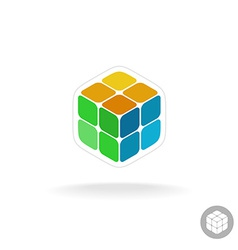 Abstract cube box logo vector image