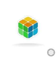 Abstract cube box logo vector image vector image