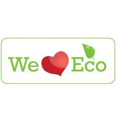 eco sticker vector image vector image