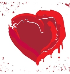 Hand drawn red heart vector image