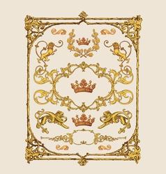 heraldic design elements vector image vector image