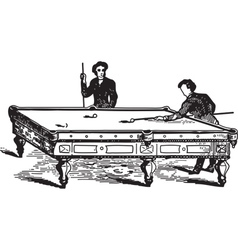 Playing Pool vector image