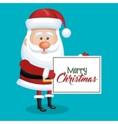 card christmas santa claus with blue sky vector image