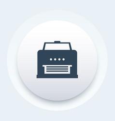 printer icon on round shape vector image