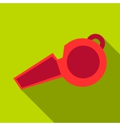 Whistle icon flat style vector image