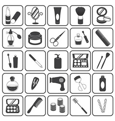 Basic Cosmetic Icons Set vector image vector image