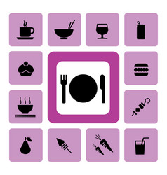 food and drink icon2 vector image