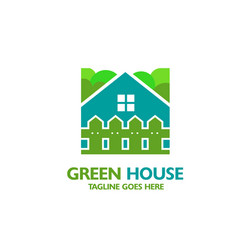 house icon with fence vector image
