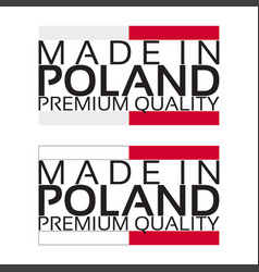 made in poland icon premium quality sticker vector image