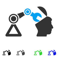 open head surgery manipulator flat icon vector image vector image