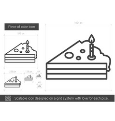 Piece of cake line icon vector