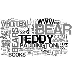 A teddy bears life text word cloud concept vector