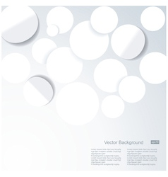 Abstract 3D Geometrical DesignWhite paper circles vector image vector image