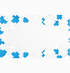 abstract blue and white medical cross pattern vector image