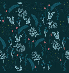 Abstract flowers seamless patterns vector