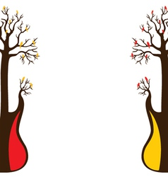 abstract guitar tree and bird vector image