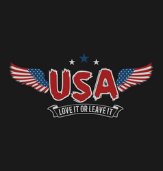 american wing love it or leave it design vector image