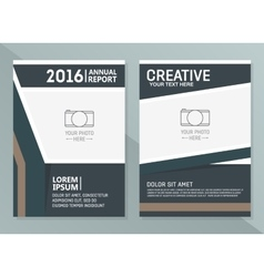 annual report design templates Business vector image
