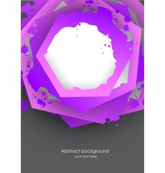 Background with grunge hexagons vector image vector image