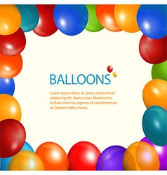 Balloons frame and sample text vector
