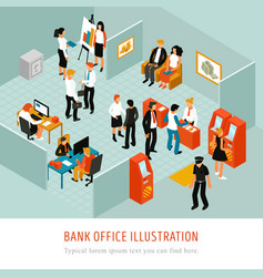 Bank office isomeric composition vector
