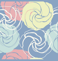 beautiful seamless pattern with cute roses vector image