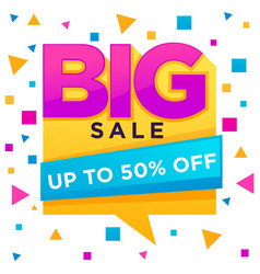 big sale flyer templatr with lrttering vector image
