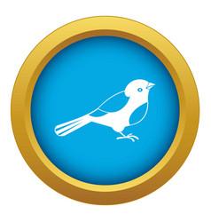 Bird icon blue isolated vector