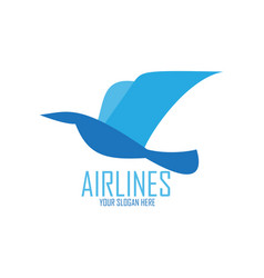 blue bird for airlines logo vector image