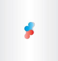 Blue red heart logo sign design vector