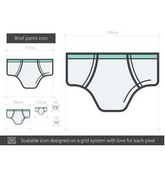 brief pants line icon vector image