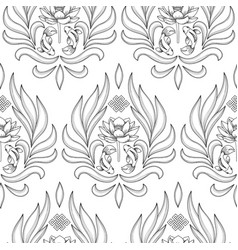 Buddhism symbols seamless pattern vector
