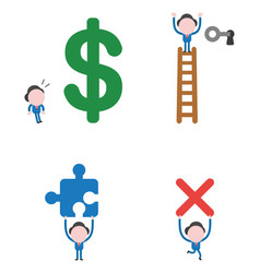 businessman character set vector image