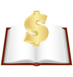 cash book vector image
