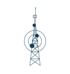 Cellular communication satellite tower isolated vector